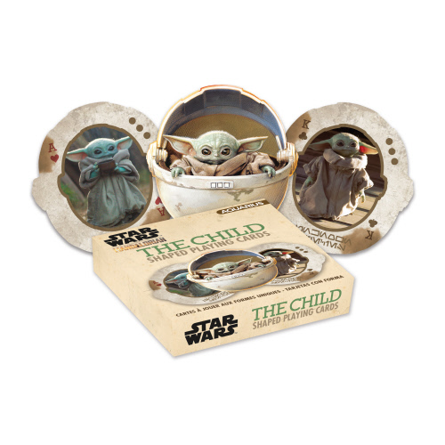 Star Wars The Mandalorian The Child Shaped Playing Cards.