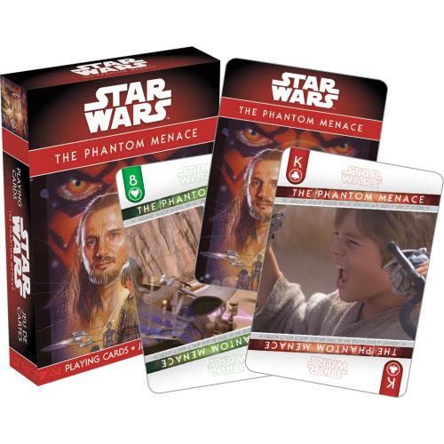 Star Wars Episode 1 The Phantom Menace Playing Cards.