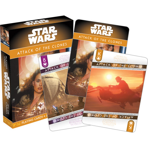 Star Wars Episode 2 Attack of the Clones Playing Cards.