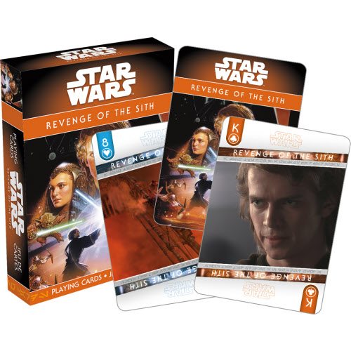Star Wars Episode 3 Revenge of the Sith Playing Cards.