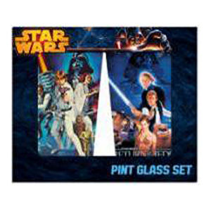 Star Wars Cast Action 16 Ounce Pint Glass 2 Pack
