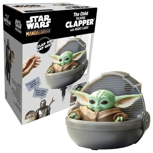 Star Wars The Mandalorian The Child Clapper. Clap 3 times to turn on the night light and hear Greef Karga and The Mandalorian quotes from the show.