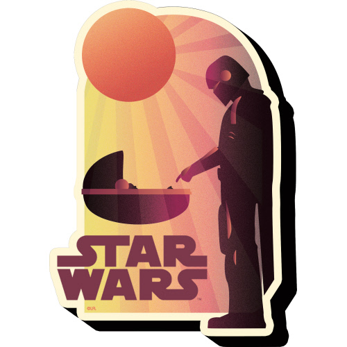 Star Wars The Mandalorian The Child Sunset Funky Chunky Magnet.