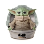 Star Wars The Child 11 Inch Soft Plush Figure. The toy plush has a soft body, plus a sturdy base filled with beans, perfect for cuddling or display as a collectible