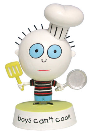 Stupid Factory David and Goliath Boys cant cook Figurine