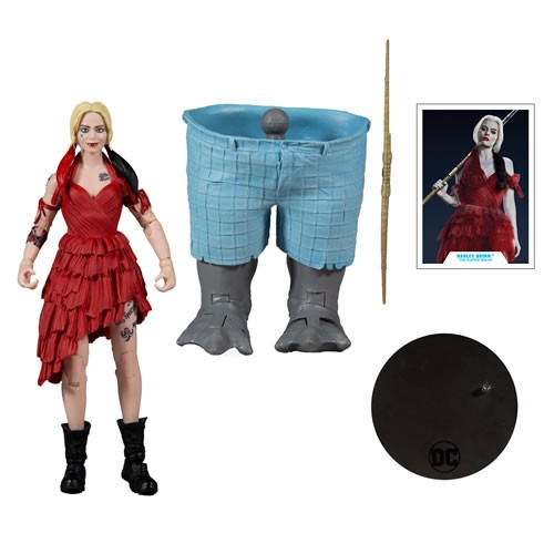 Suicide Squad 2 7 Inch Scale Harley Quinn. Includes Build afigure piece for King Shark.