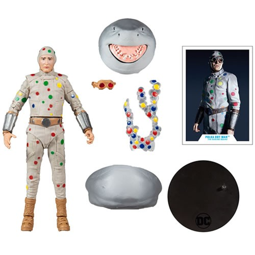 Suicide Squad 2 7 Inch Scale Polka Dot Man Action Figure. Includes a Build a Figure Piece for King Shark.