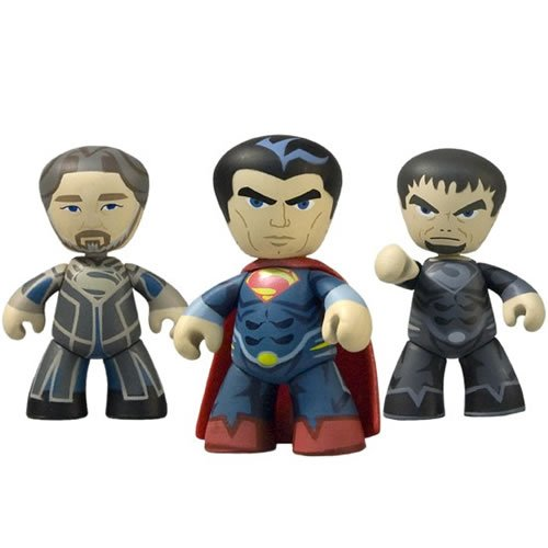 Man Of Steel Mini Mez-Itz 3-Pack - 2013 SDCC Exclusive. Limited Edition of 1200 Pieces.
