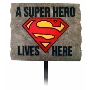 Superman A Superhero Lives Here Garden Stake