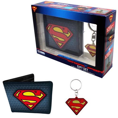 DC Comics Superman Wallet and Keyring Gift Set