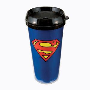 Superman 16 Ounce Plastic Travel Mug