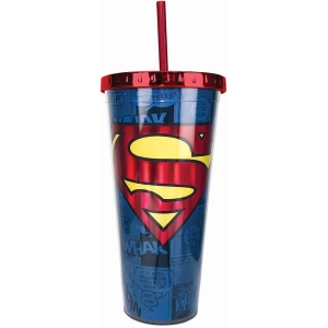 Superman Foil Cup with Straw