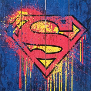 Superman Wood Sign