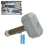 Thor Hammer Strike Nerf Power Moves. Hold down the button on the Mjolnir toy hammer to launch a NERF dart!