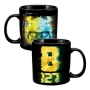Transformers Bumble Bee B-127 20 Ounce Heat Reactive Ceramic Mug.