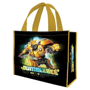 Transformers Bumble Bee Black Large Recycled Shopper Tote