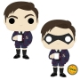 The Umbrella Academy Number Five Pop! Vinyl Figure. Measures 3.75 inches tall. The stylized figure has a rotating head and comes in a displayable window box. Ages 3 and up.