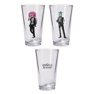 The Umbrella Academy Hazel And Cha Cha Pint Glass Set