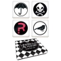 The Umbrella Academy  Coasters 4-Pack. Cork backed coasters with the familiar symbols seen throughout the series.