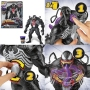 Maximum Venom Ooze Action Figure. Put purple ooze (included) into the back of the figure, then turn a knob on the back to move the figures tongue and sling the shiny, symbiotic surprise!