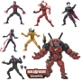 Marvel Legends 6 Inch Action Figures Build-A-Figure Venompool Case. Case includes LEGENDS GHOST SPIDER - LEGENDS VENOM MILES MORALES - LEGENDS VENOM - LEGENDS VENOM MORBIUS - LEGENDS VENOM CARNAGE - LEGENDS VENOM PHAGE.