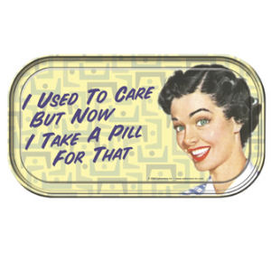 Retro Humor by Ephemera Therapy Collection I Used To Care Mini Tin Sign