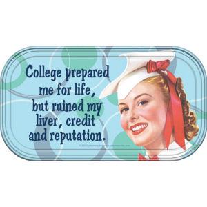 Retro Humor by Ephemera College Prepared Magnetic Mini Tin Sign