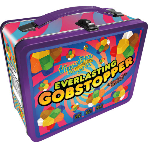 Willy Wonka Gobstopper Large Gen 2 Fun Box Lunchbox Tin Tote.