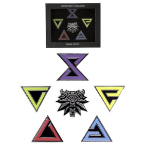 The Witcher Enamel Pins 6-Pack