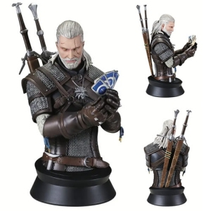 The Witcher 3 The Wild Hunt Geralt Playing Gwent Mini Bust