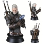 The Witcher 3 The Wild Hunt Geralt Playing Gwent Mini Bust. Gwent is a unique card game where bluffing and deception are as important as the armies one brings to the table. Includes a certificate of authenticity. This is a limited-edition polystone bust.
