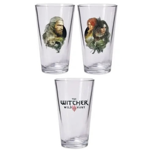 The Witcher 3 Wild Hunt Geralt and Triss with Yennefer Pint Glass 2-Pack