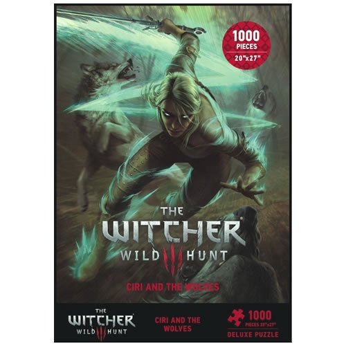 The Witcher 3 Wild Hunt Ciri And The Wolves 1000 piece Puzzle