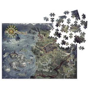 The Witcher 3 Wild Hunt Witcher World Map 1000 Piece Puzzle