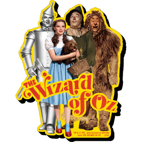 The Wizard of Oz Cast Funky Chunky Magnet.