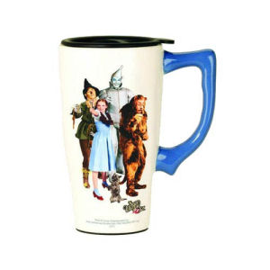 The Wizard of Oz Cast Photo White Travel Mug with Handle