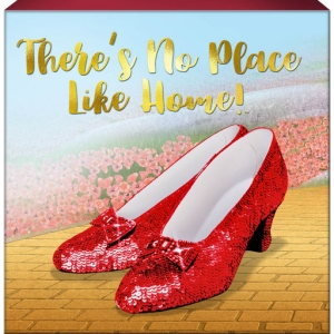 The Wizard of Oz Ruby Slippers Box Sign