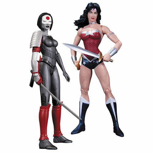 Justice League New 52 Wonder Woman Vs Katana 2-Pack Action Figures. Bursting from the pages of Justice League and Justice League of America come two of the fiercest warriors in the DC Universe: Wonder Woman and Katana!