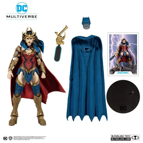 DC Multiverse Dark Nights: Death Metal (BAF Darkfather) 7 Inch Scale Wonder Woman Action Figure. Figure includes 1 of 4 pieces that when combined with the remaining pieces will assemble The Darkfather from Dark Night: Heavy Metal.