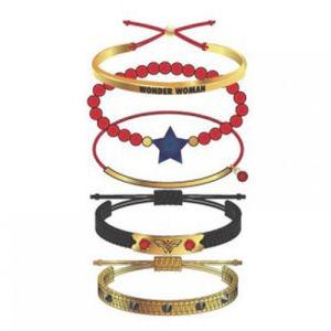Wonder Woman Red Arm Party Bracelet Set