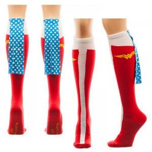 Wonder Woman Knee High Caped Socks
