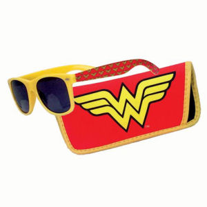 Wonder Woman Logo Sunglasses with Carry Case