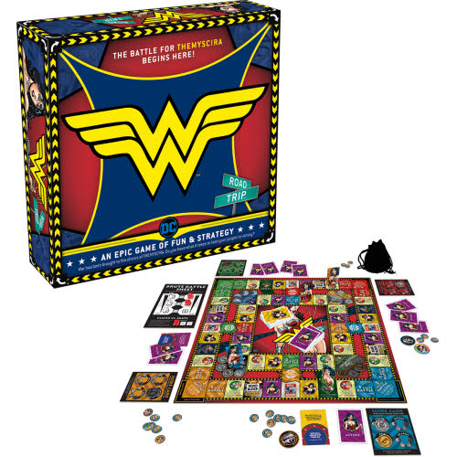Wonder Woman Road Trip Board Game.