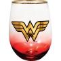 Wonder Woman Stemless Wine Glass.