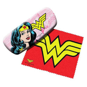Wonder Woman Eyeglasses Case with Cleaning Cloth
