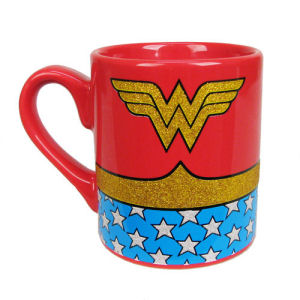 Wonder Woman Uniform Glitter 14 Ounce Ceramic Mug