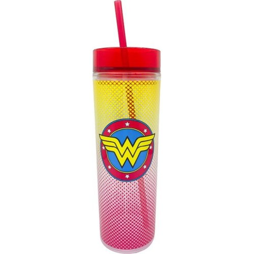 Wonder Woman Tall Cup  with Straw
