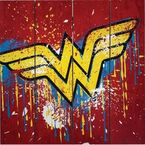 Wonder Woman Wood Sign