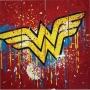 Wonder Woman Wood Sign.