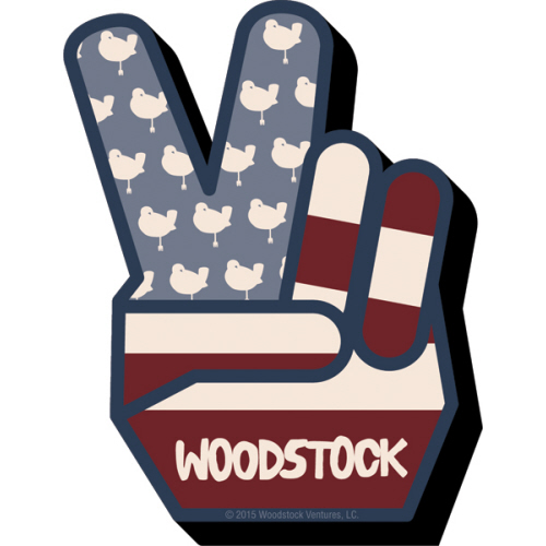Woodstock Peace Funky Chunky Magnet.